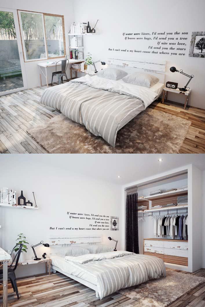 giường ngủ gỗ trắng