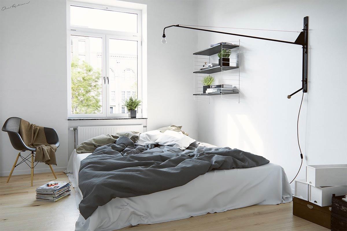 phòng ngủ đẹp phong cách bắc âu