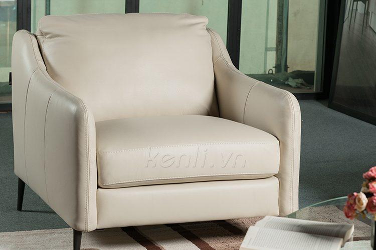 Sofa E130 văng đơn trắng cao cấp