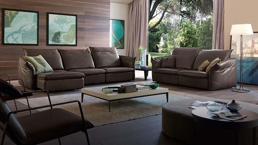Sofa da thật Italia Softy full bộ (Văng 3 + Văng đơn + 2 Ghế Eastway)2