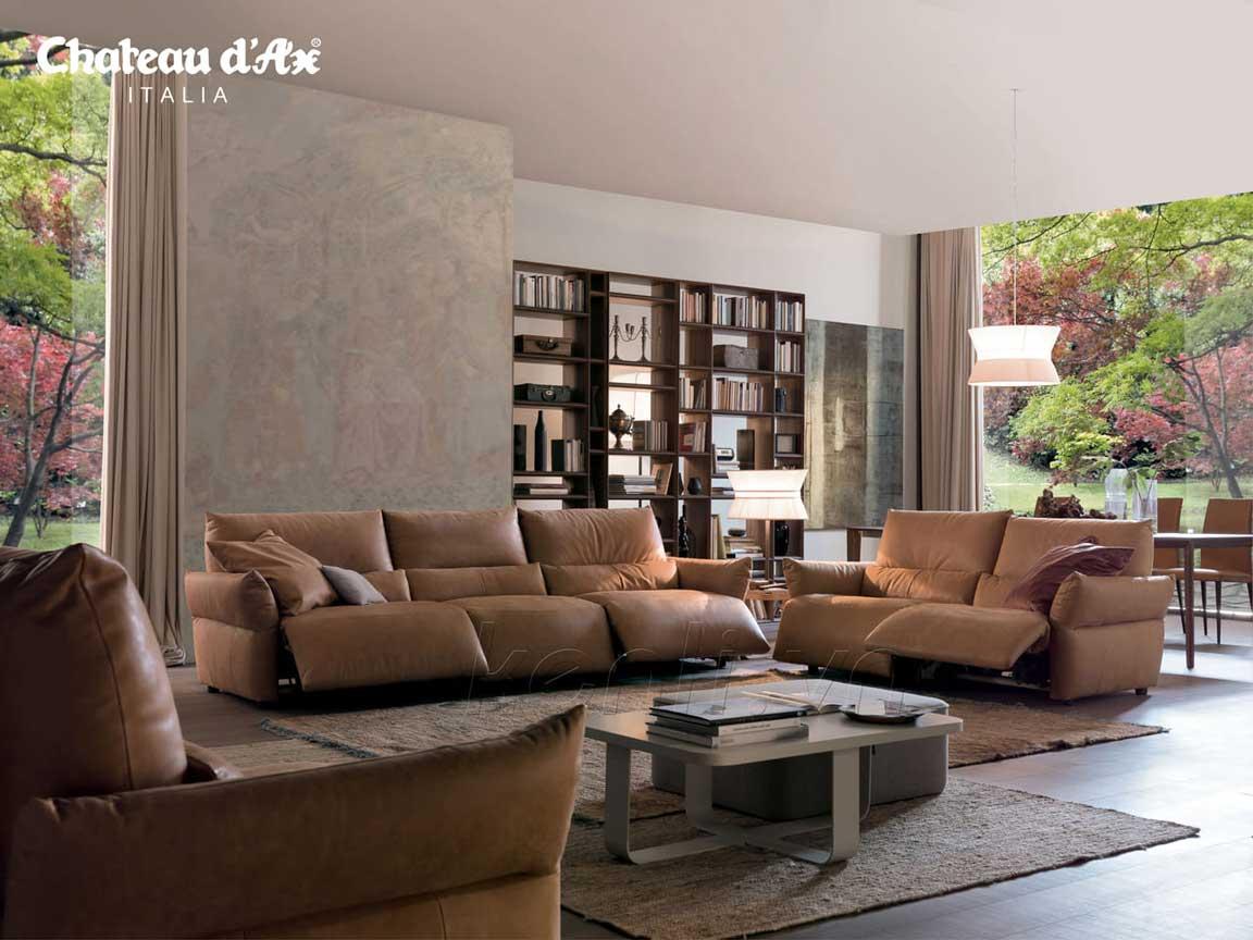 sofa da nâu cao cấp