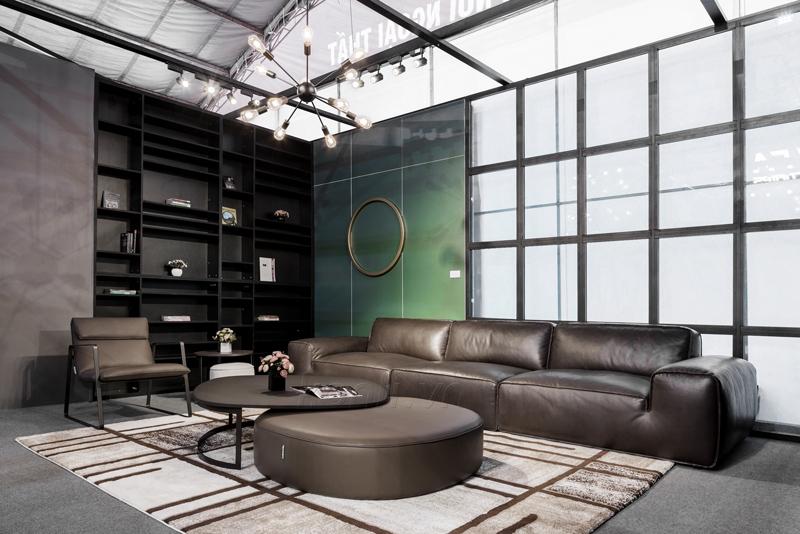 sofa da avenue đen