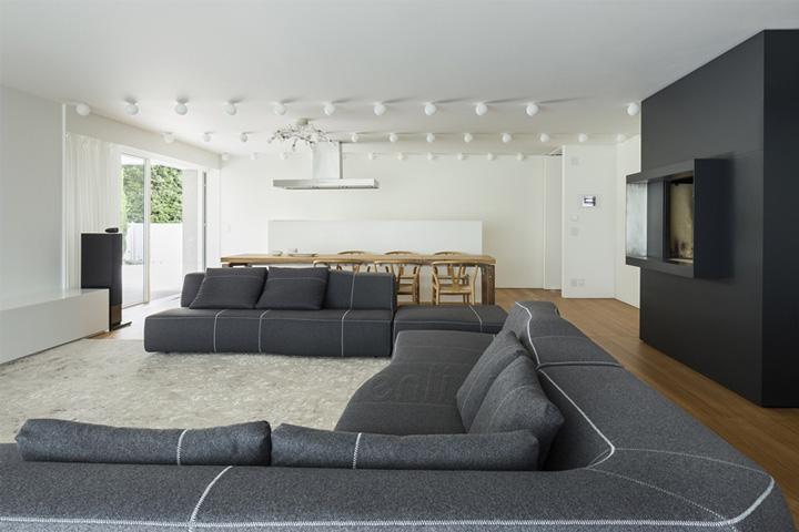 ghế sofa xám hiện đại