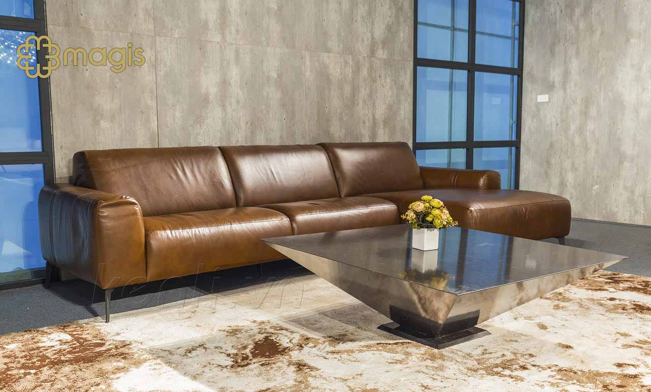 bàn trà Lythos ghế sofa nâu
