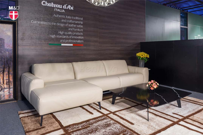 Sofa da trắng