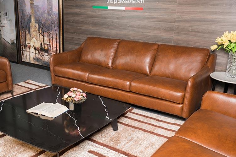 bộ sofa nâu bàn đá
