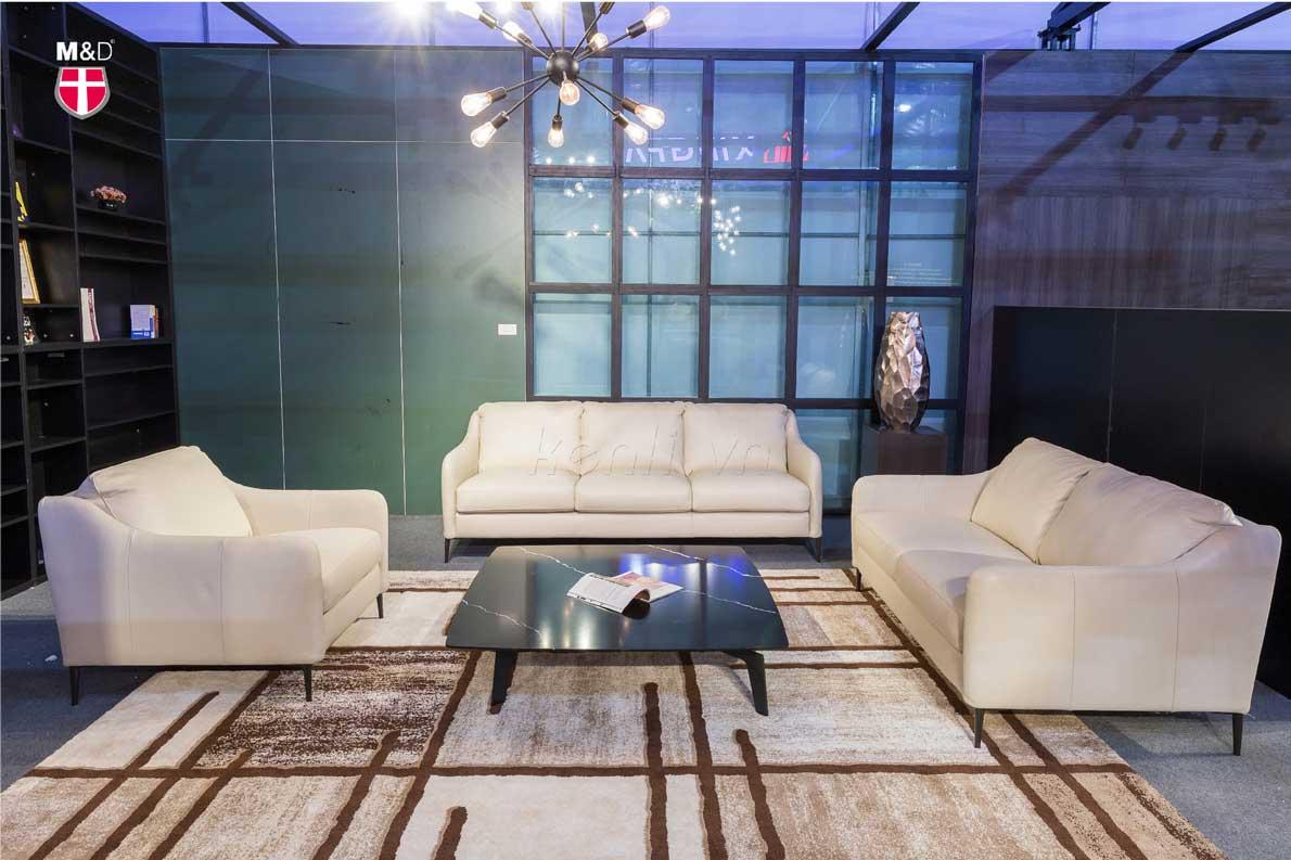 Sofa da kết hợp bàn baba vuông