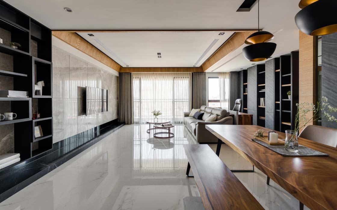 Thiết kế phong cách Ý cho phòng khách chung cư