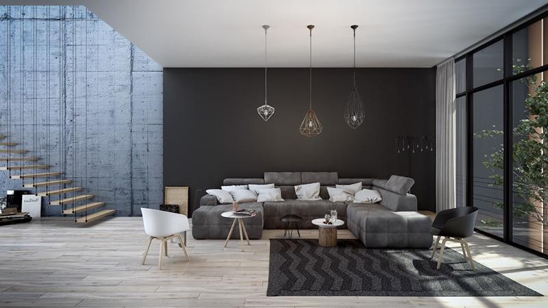mẫu phòng khách hiện đại