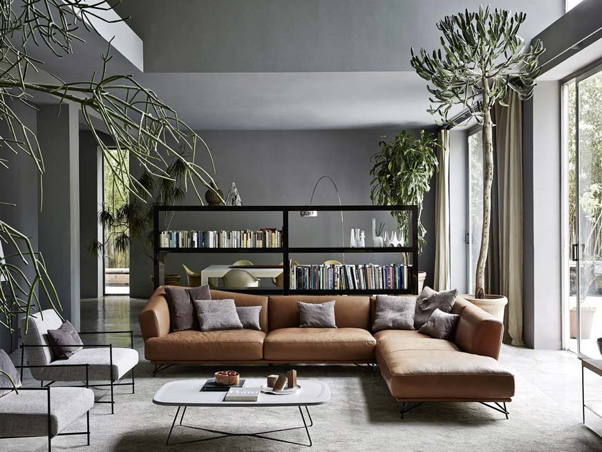 sofa da ý góc chữ L