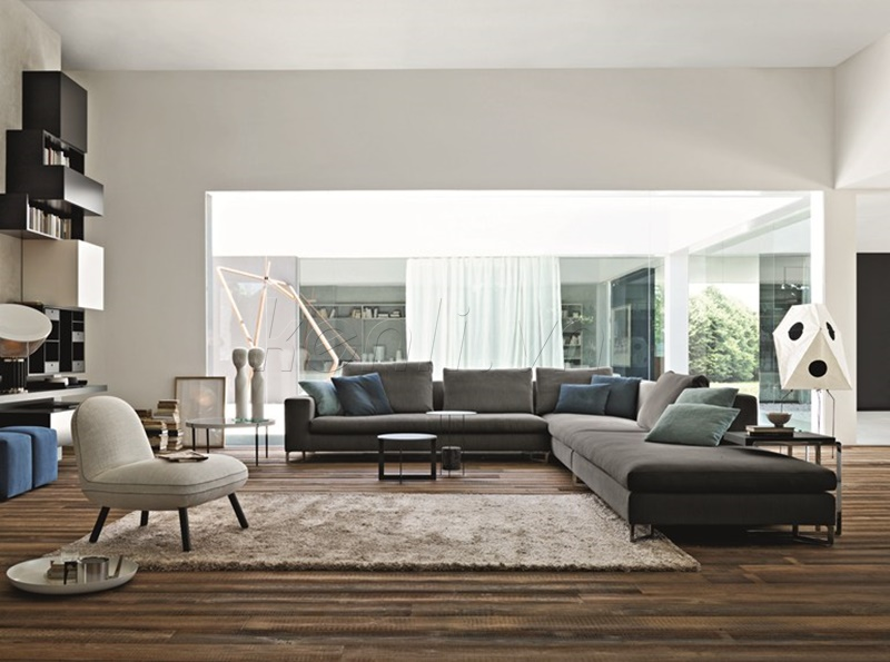 phòng khách hiện đại với ghế sofa