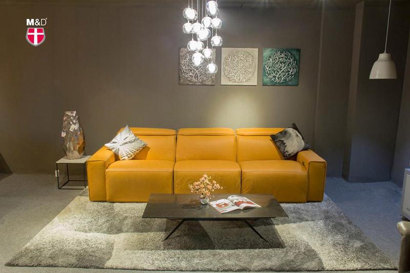 bộ sofa da vàng