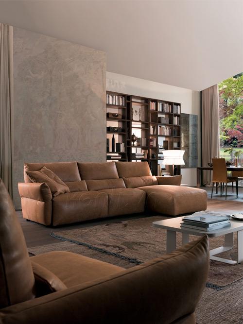 sofa da nâu nhạt