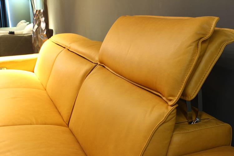 Sofa da thật EE87 văng 3 có động có phần tựa lưng vô cùng êm ái
