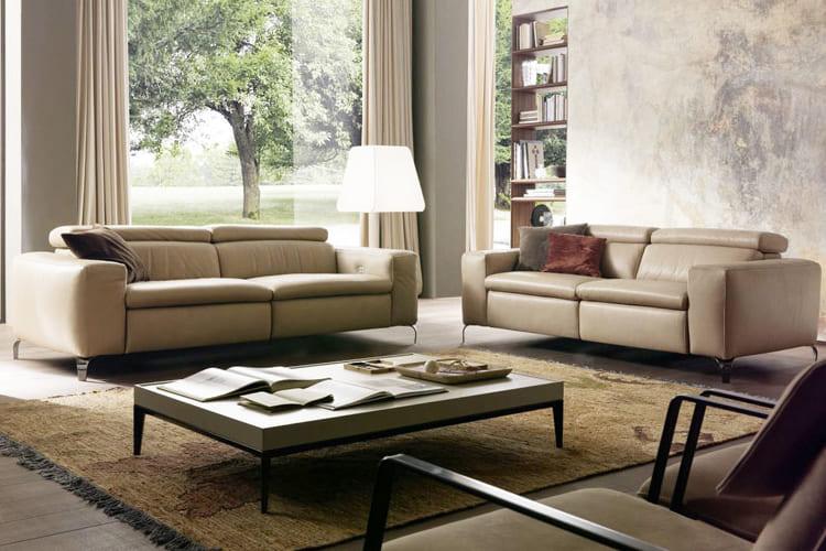 Bàn trà Paul + sofa da - Một sự kết hợp hoàn hảo