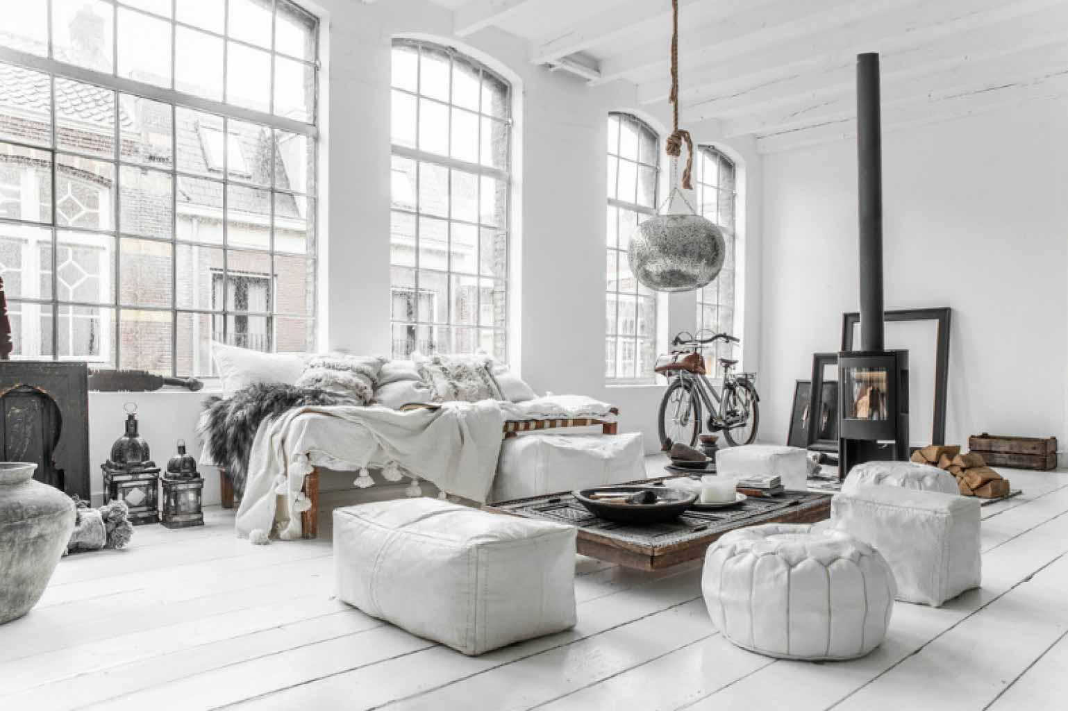 bộ sofa trắng