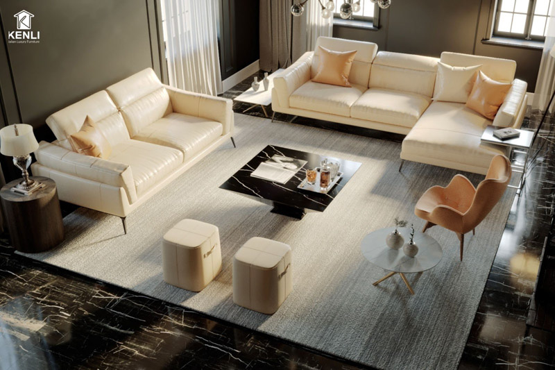 sofa da thật florence