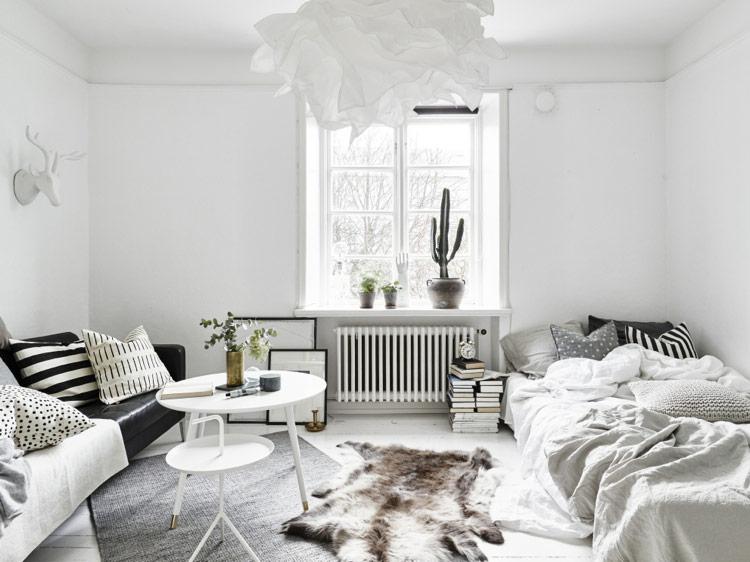 phòng ngủ phong cách bắc âu tinh khiết
