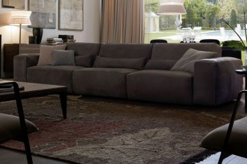 Mẫu sofa da thật nhập khẩu Italia bề thế, sang trọng bậc nhất