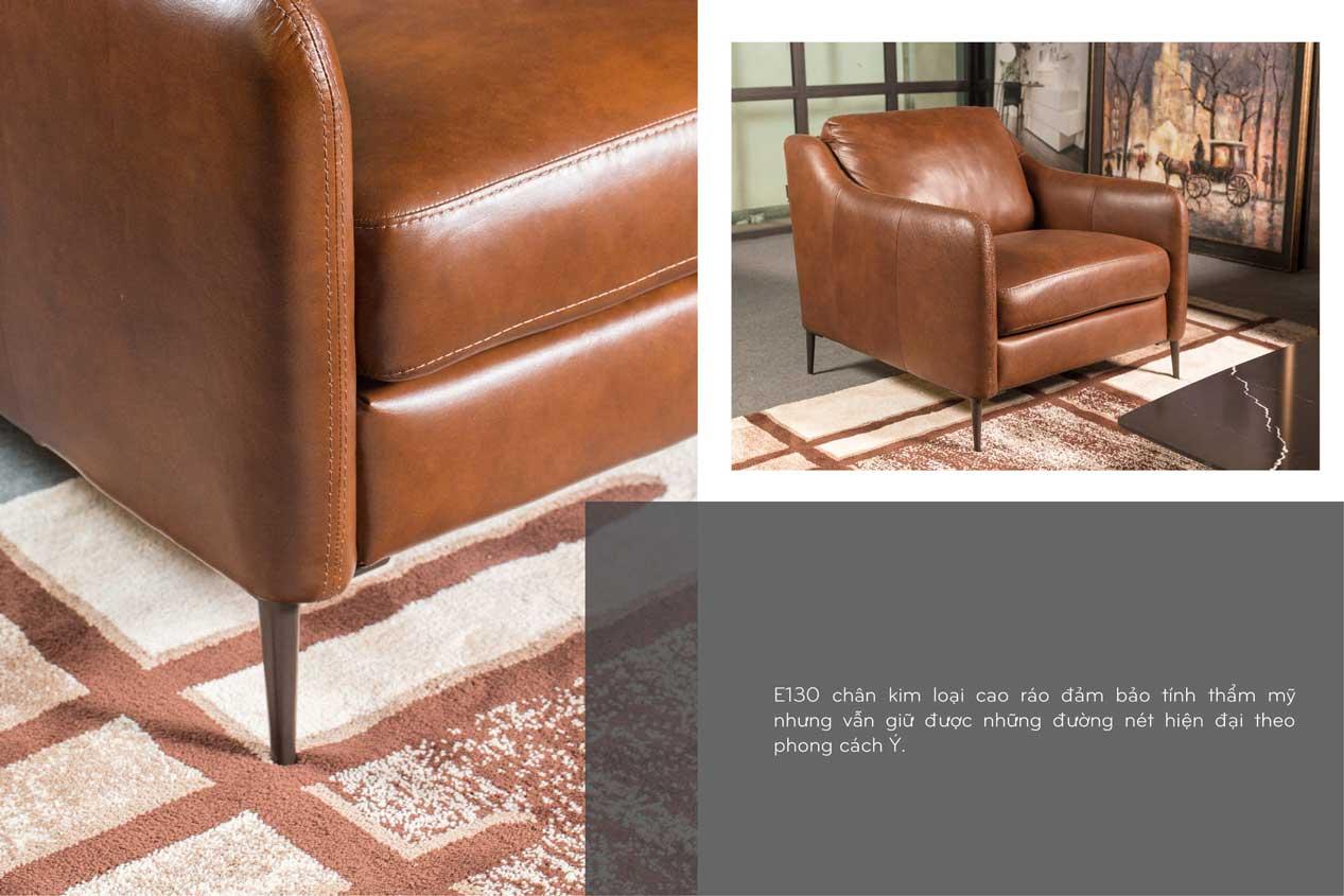 Ghế Sofa da thật E130