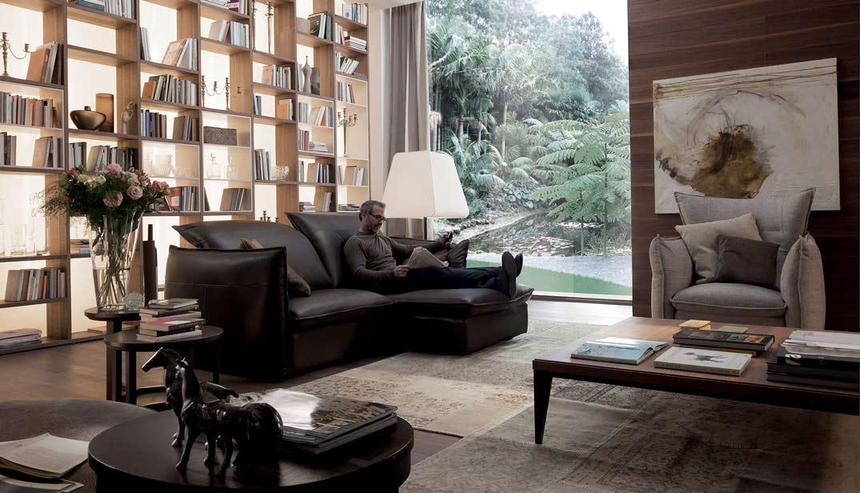 Ghế Sofa da thật Italia