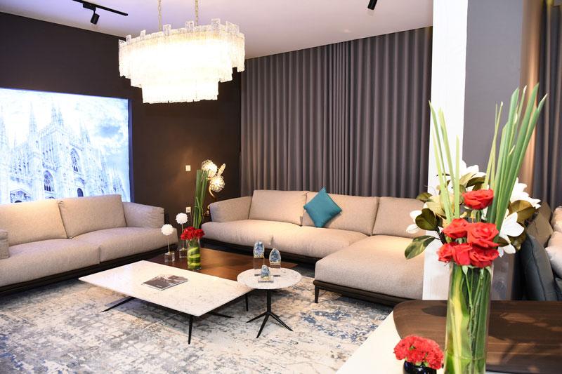 Phòng Khách với Sofa da
