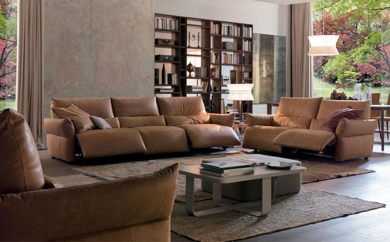 Sofa da ở phòng khách