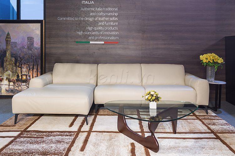 sofa da thật E119