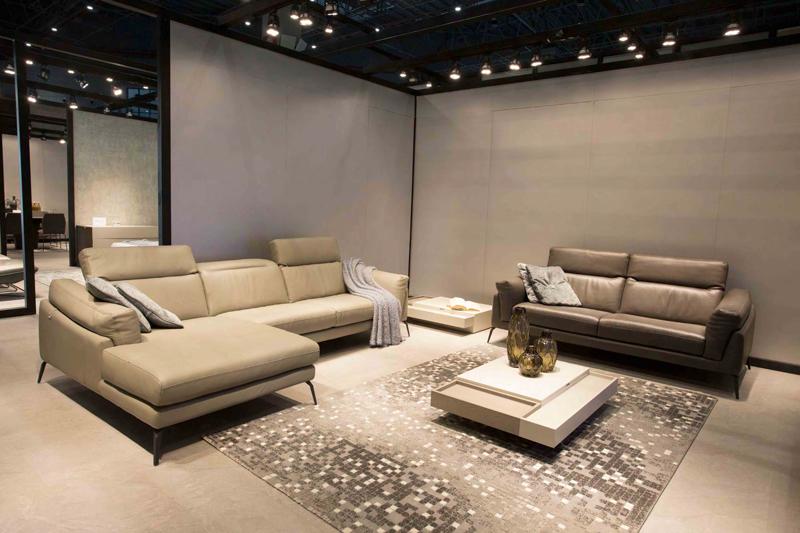 Sofa F021 da thật nhập khẩu cao cấp