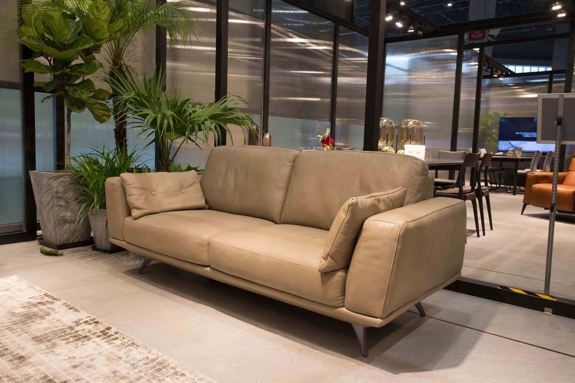 Sofa da thật nhập khẩu Italia F019