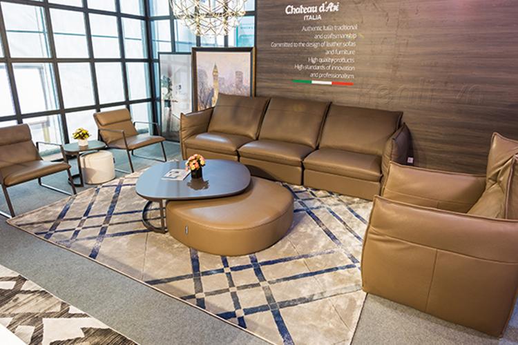 Mẫu sofa da thật nhập khẩu Italia ấn tượng
