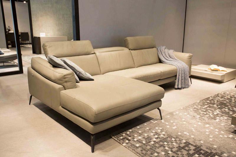 Sofa da thật MD trắng