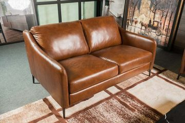Sofa da thật E130 văng 2