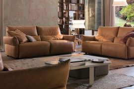 Sofa da thật Italia Emma Full bộ