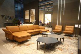 Sofa da thật F026 văng L3 (L2670-3070xW930-1550xH840)
