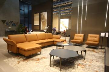 Sofa da thật F026 văng 2 (L1560-1960xW930xH840)
