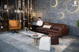 Sofa da thật FE10 văng 3 (L2260xW1090xH780/1080)