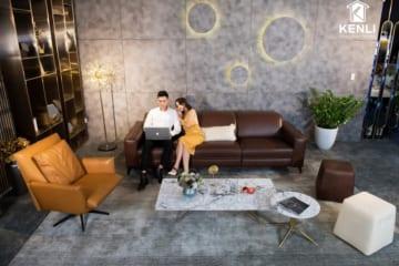 Sofa da thật FE10 văng 3 lớn