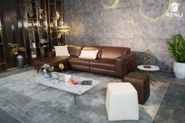 Sofa da thật FE10 văng L3 (L2260xW1090xH780/1080)
