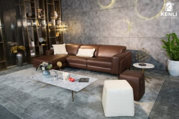 Sofa da thật FE10 văng L3