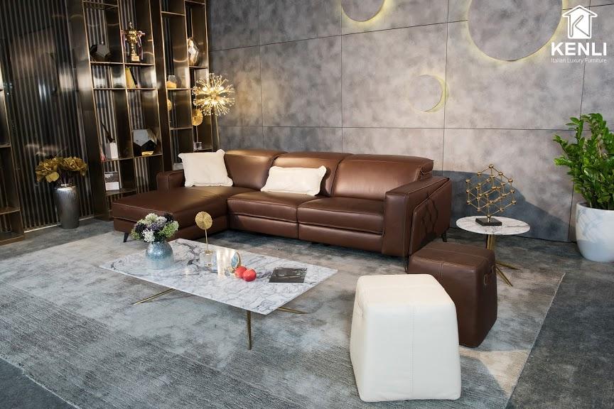 Sofa da thật FE10 văng L3 lớn3