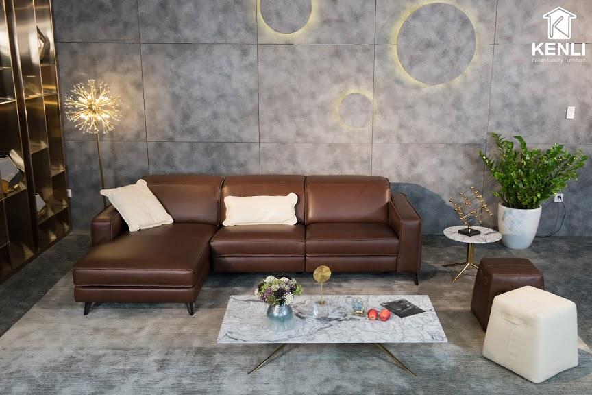 Sofa da thật FE10 văng L32