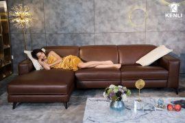 Sofa da thật FE10 văng L3 lớn (L2820xW1090xH780/1080)