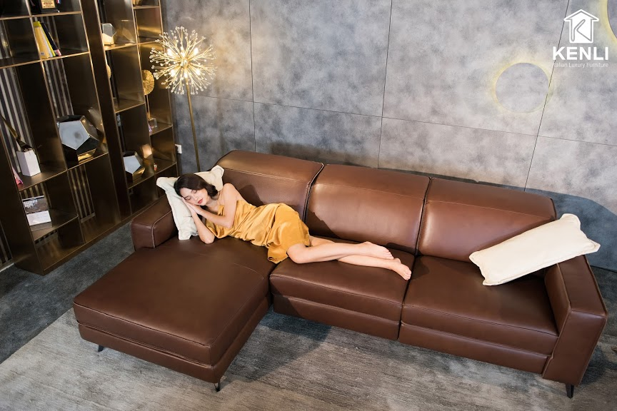 Sofa da thật FE10 văng L3 lớn5