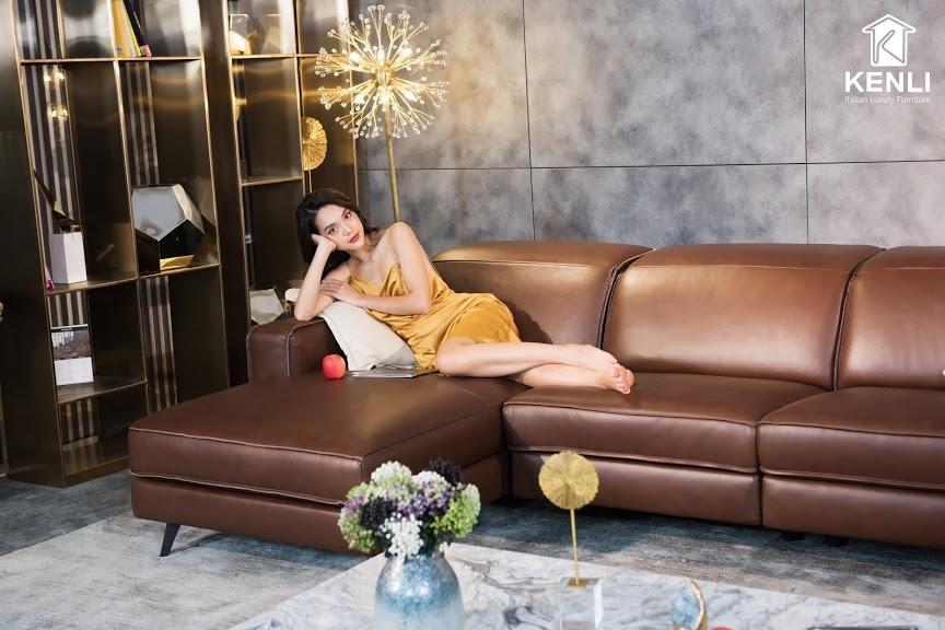 Sofa da thật FE10 văng L3 lớn6
