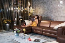 Sofa da thật FE10 văng L3 DC (L2260xW1090xH780/1080)