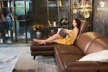 Sofa da thật FE10 văng L3 lớn DC (L2820xW1090xH780/1080);