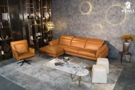 Sofa da thật F021 văng đơn
