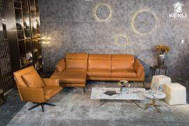 Sofa da thật F021 văng L