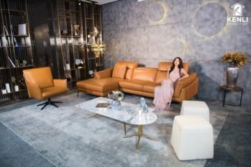 Sofa da thật F021 văng đơn (L1050xW1080xH750)